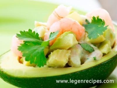 Avocado with shrimp