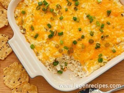 Cheesy Green Chile Chicken Dip