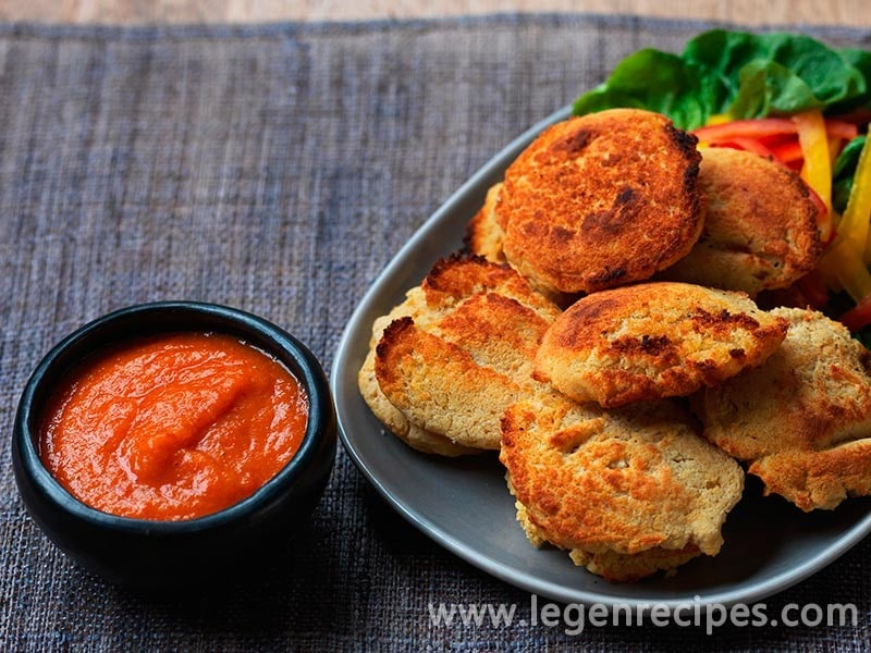 Phulouri (split pea fritters with hot sauce) - Legendary Recipes