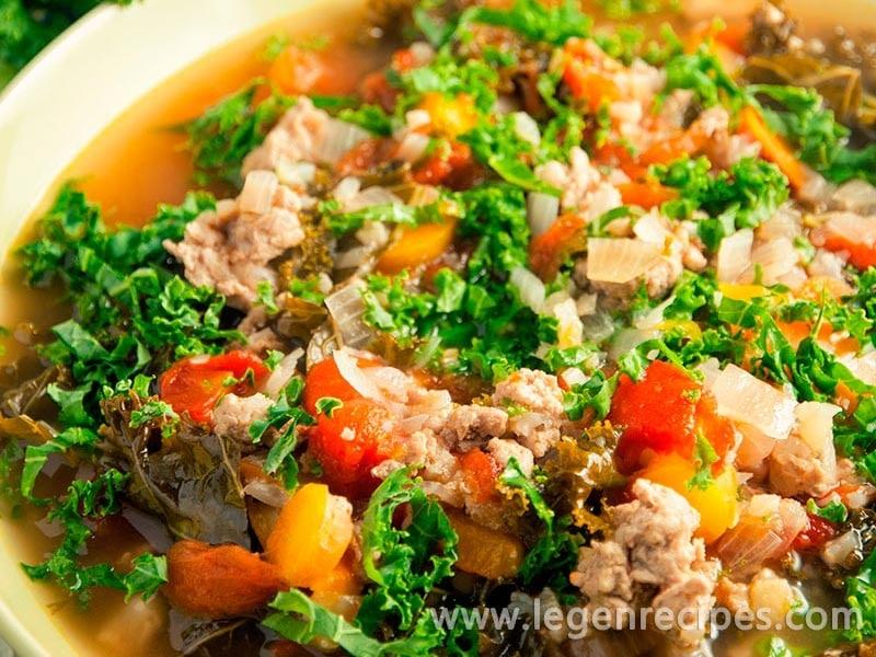 Turkey, Kale, and Cauliflower Soup Recipe - Legendary Recipes