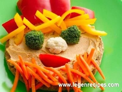 Funny Face Veggie Sandwiches