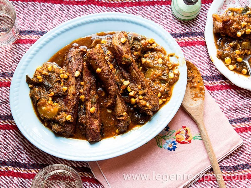 mexican braised spare ribs with squash and corn braise pork ribs with ...