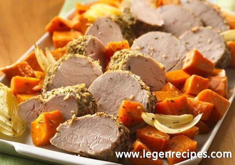 Italian Pork Tenderloin with Roasted Sweet Potatoes - Legendary ...