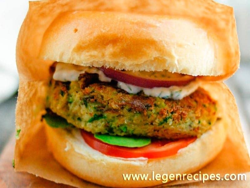 Quinoa & Zucchini Veggie Burgers - Legendary recipes