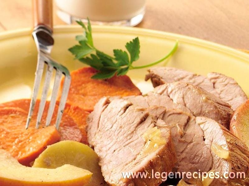 roast pork with apples and sweet potatoes apples and pork always pair ...