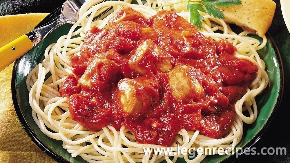 Slow-Cooked Italian Sausage Pasta Sauce with Spaghetti - Legendary ...