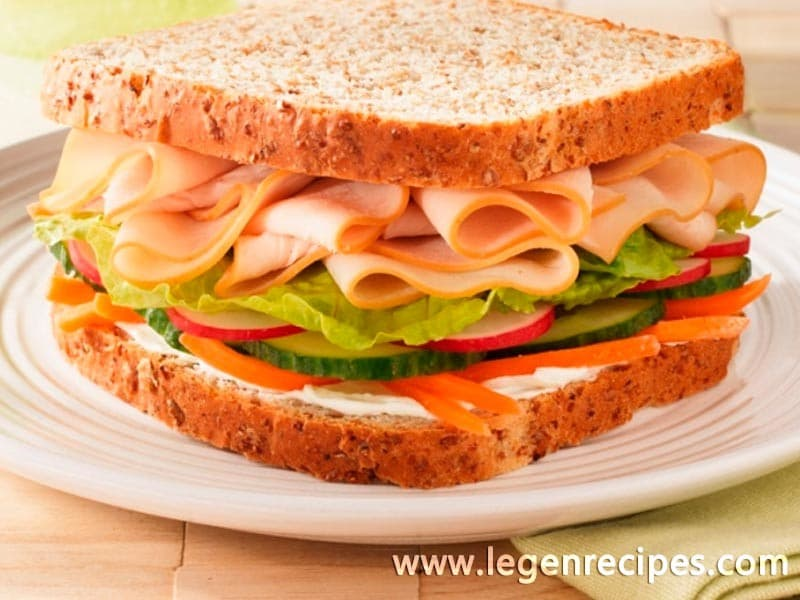 Turkey veggie sandwich - Legendary Recipes