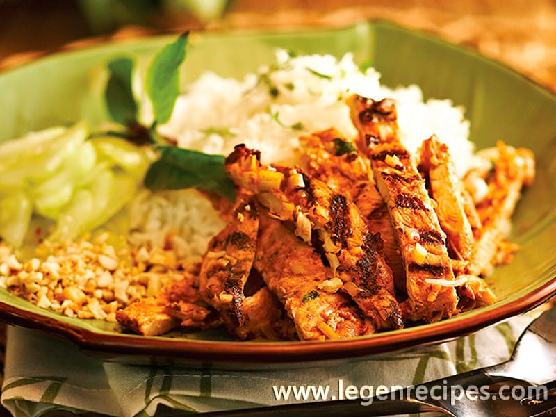 Vietnamese Lemongrass And Chili Grilled Chicken - Legendary Recipes